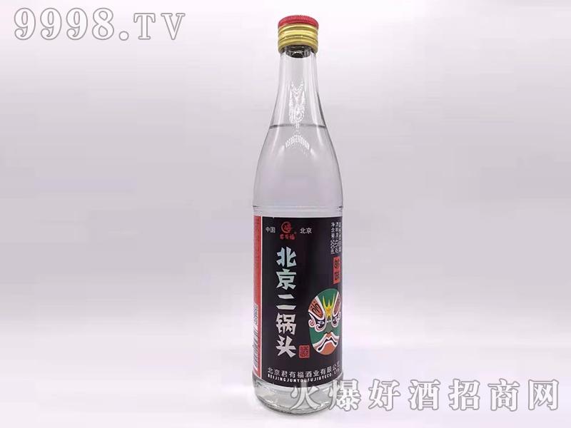 君有福北京二锅头酒够味42度500ml浓香型白酒花脸