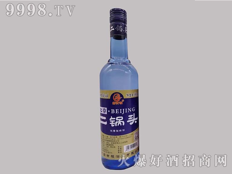 君有福北京二锅头酒42度500ml浓香型白酒金标